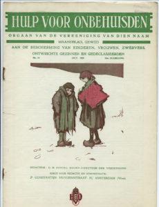 Omslag tijdschrift Hulp voor Onbehuisden in 1929